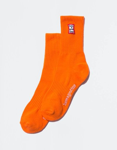 Have A Good Time Frame Socks Neon Orange