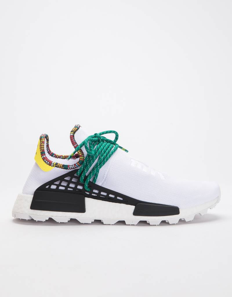 Adidas by Pharrell Williams Solar Hu Nmd Supplier Ftwr White/Bold Green/Bright Yellow