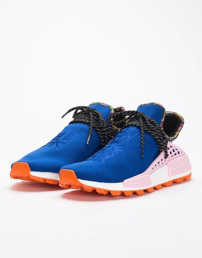 edc4e77015f8 Adidas by Pharrell Williams Solar Hu Nmd Power Blue Light Pink Orange