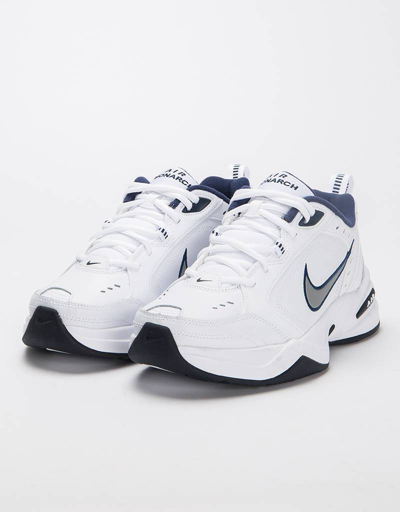 Nike Air Monarch IV White/Metallic Silver