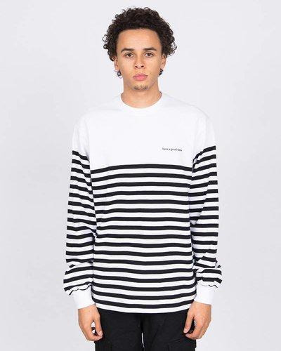 Have A Good Time Stripe Longsleeve T-shirt White/Black