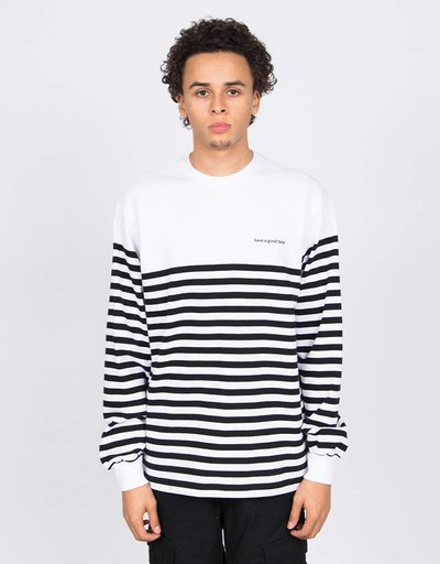 Have A Good Time Stripe Longsleeve T-shirt White/Black