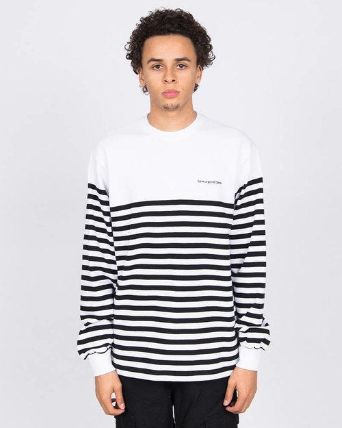 HAVE A GOOD TIME Have A Good Time Stripe Longsleeve T-shirt White/Black