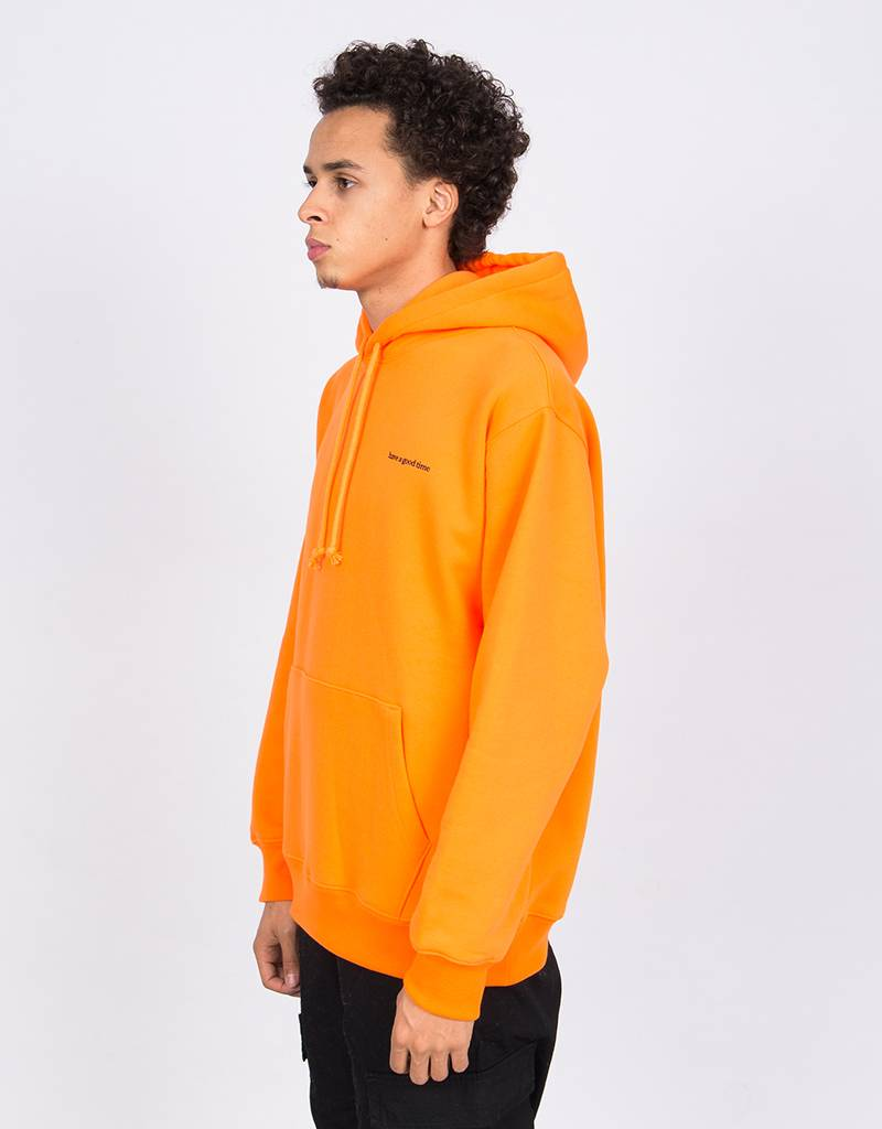 Have A Good Time Side Logo Pull Over Hoodie Neon Orange