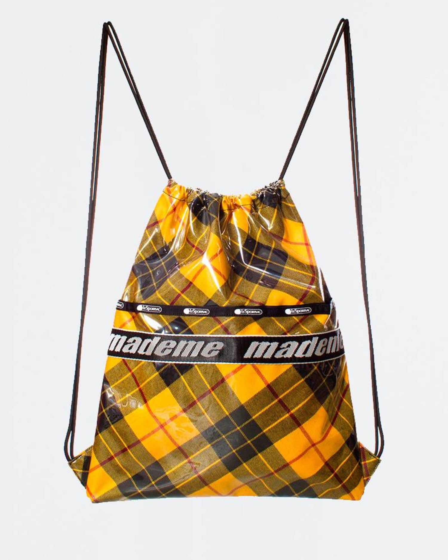 MadeMe x Lesportsac Drawstring Back Pack Yellow Plaid