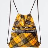 MadeMe x Lesportsac Drawstring Back Pack Yellow Plaid