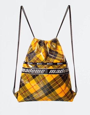 Made Me x Lesportsac MadeMe x Lesportsac Drawstring Back Pack Yellow Plaid