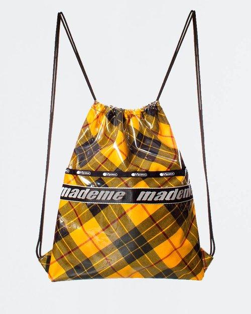 Made Me MadeMe x Lesportsac Drawstring Back Pack Yellow Plaid