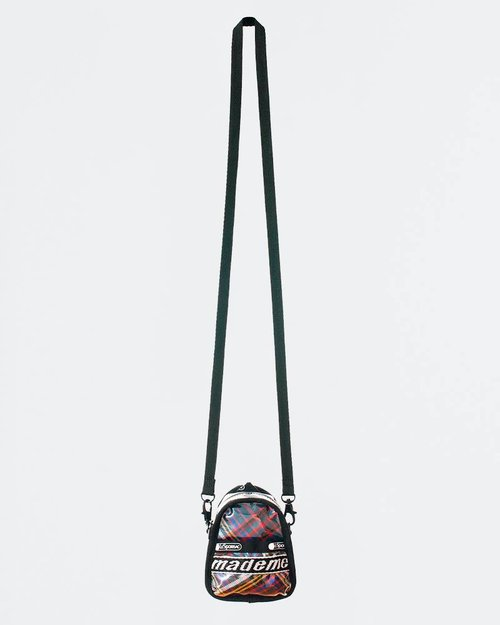 Made Me MadeMe x Lesportsac Mini Backpack Cross Body Blue Plaid