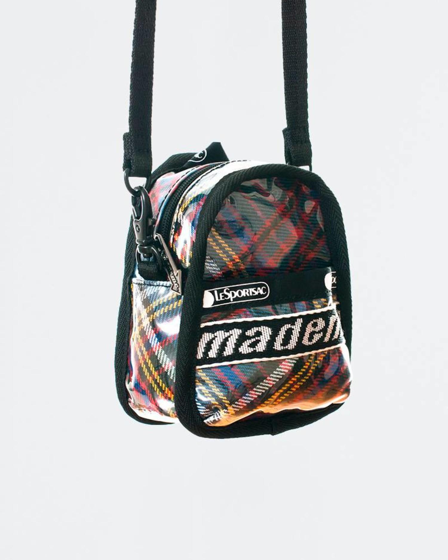 MadeMe x Lesportsac Mini Backpack Cross Body Blue Plaid