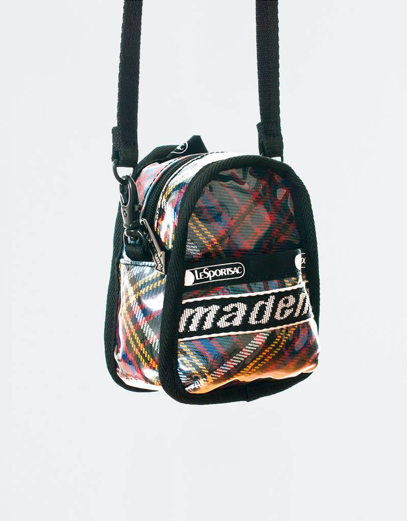 MadeMe x Lesportsac Mini Backpack Cross Body Blue Plaid