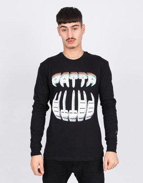 Patta Patta Longsleeve T-Shirt Big Teeth Black