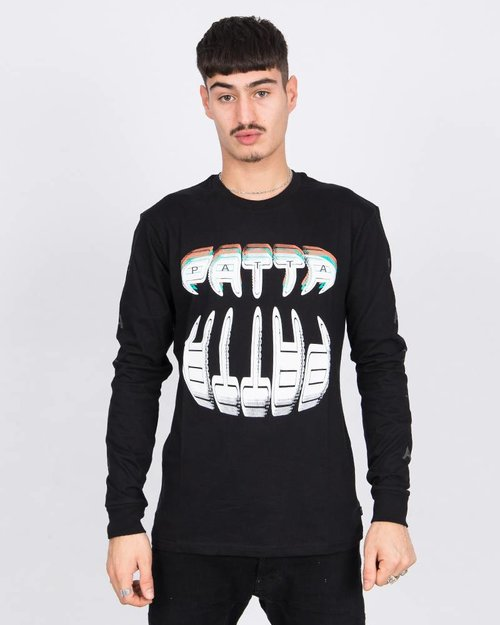 Patta Patta Longsleeve T-Shirt Big Teeth Black