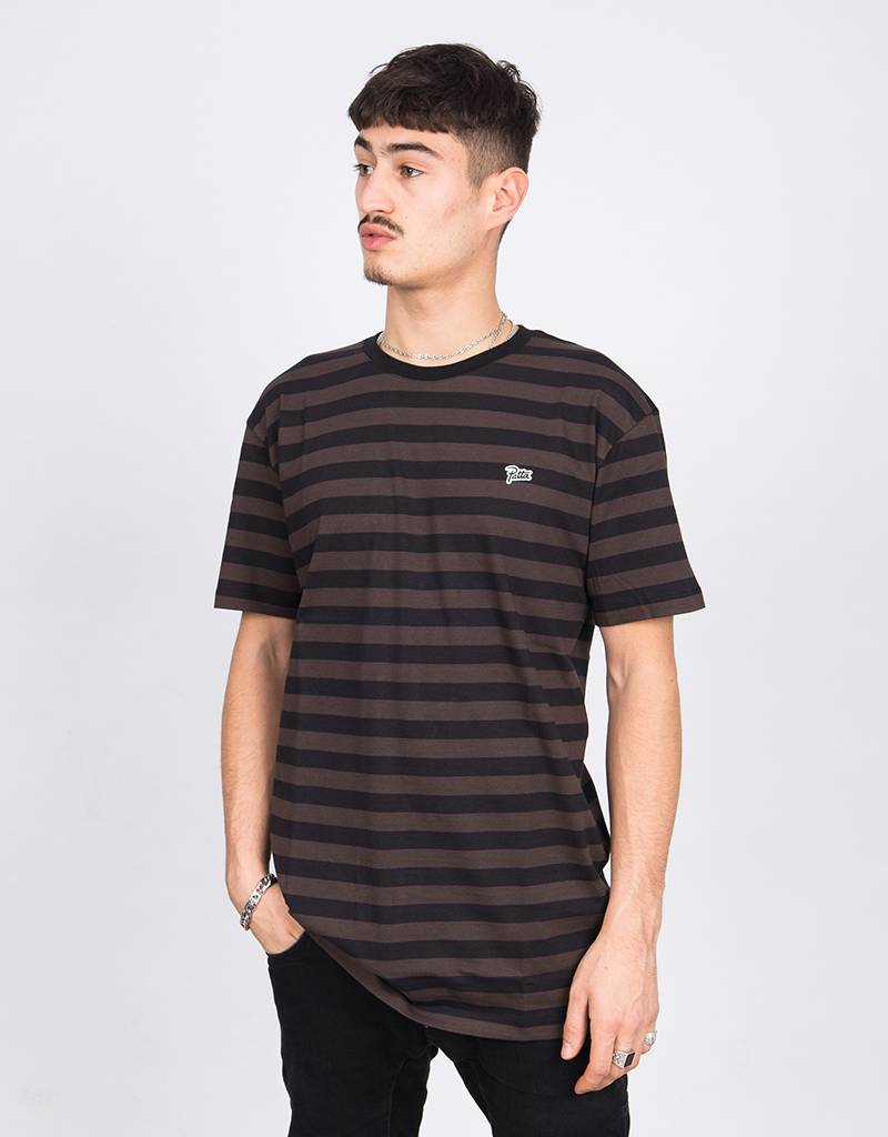 Patta T-Shirt Striped Chocolate Plum