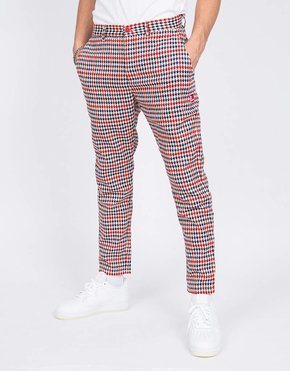 THE NEW ORIGINALS The New Originals Latte Harris Trousers Red/Creme