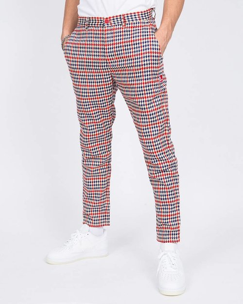 THE NEW ORIGINALS The New Originals Latte Harris Trousers Red/Creme