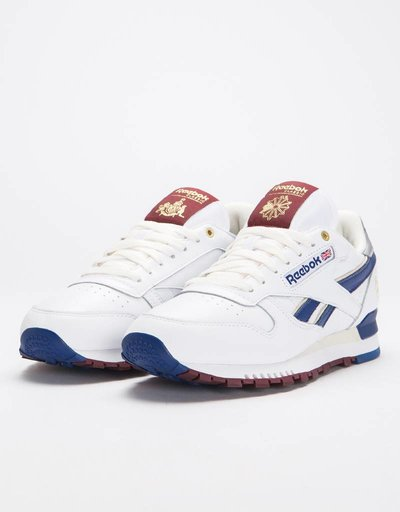 Reebok Cl Leather Mu White/White/Cobalt/M