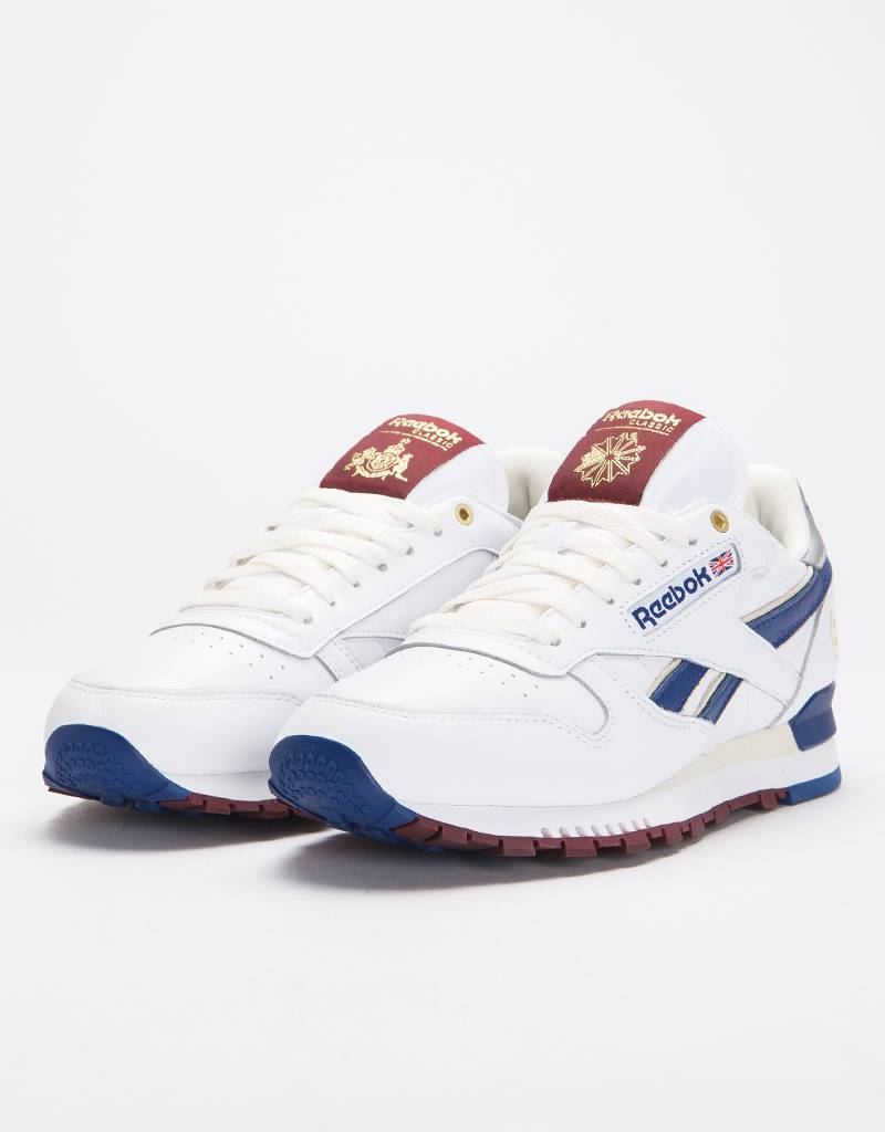 Reebok Cl Leather Mu White/White/Cobalt/M