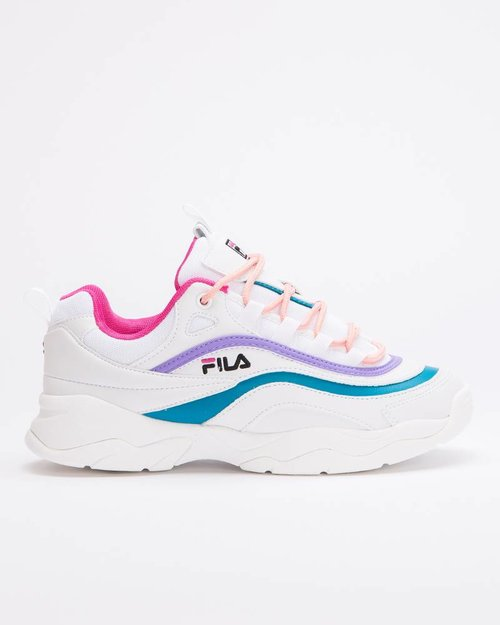 Fila Fila Ray Low White/Very Berry