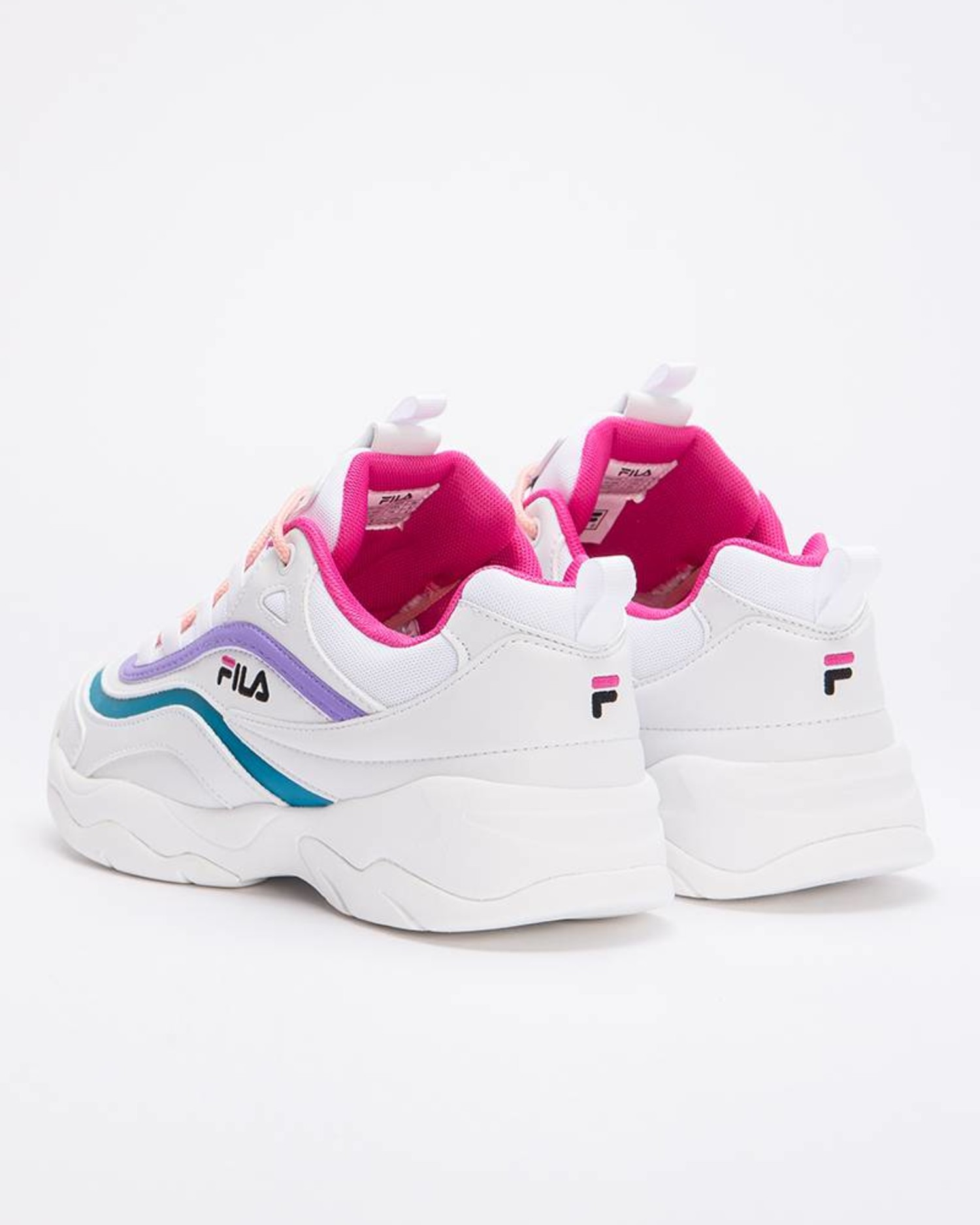Fila Ray Low White/Very Berry