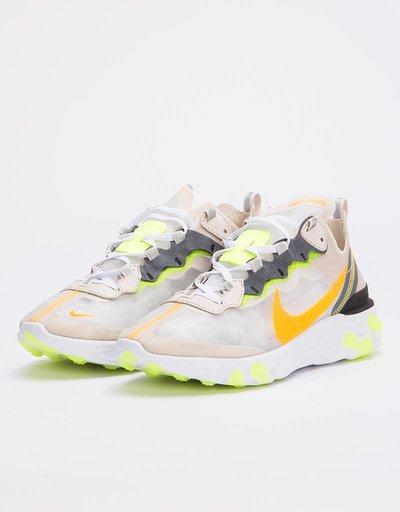 Nike React Element 87 lt orewood brn/laser orange-volt glow