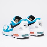 Nike AIR MAX2 LIGHT white/black-blue lagoon-laser orange