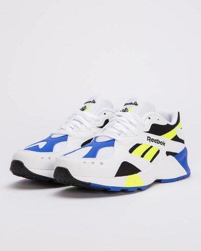 Reebok aztrek              white / black / cobalt / yellow