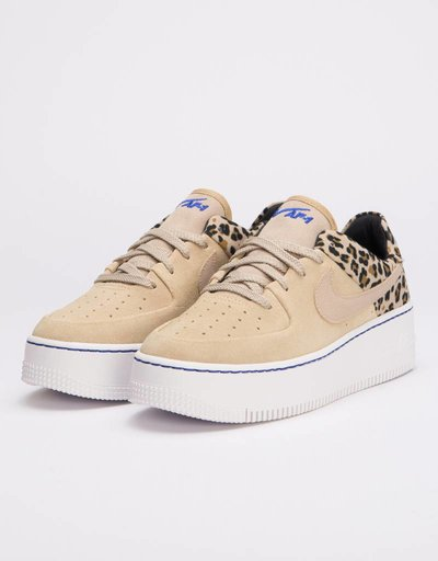 Nike Womens Air Force 1 Sage Low Premium Desert Ore/Racer Blue-Black-Wheat