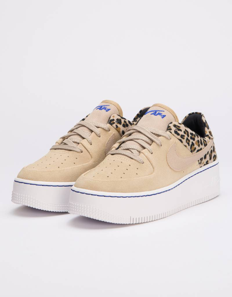 los angeles 62070 bb247 Nike Womens Air Force 1 Sage Low Premium Desert Ore Racer Blue-Black-Wheat  - Avenue Store