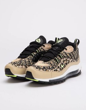 Nike Nike Womens Air Max 98 Premium Desert Ore/Volt Glow-Black-Wheat