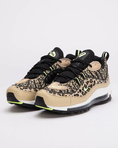 Nike Womens Air Max 98 Premium Desert Ore/Volt Glow-Black-Wheat