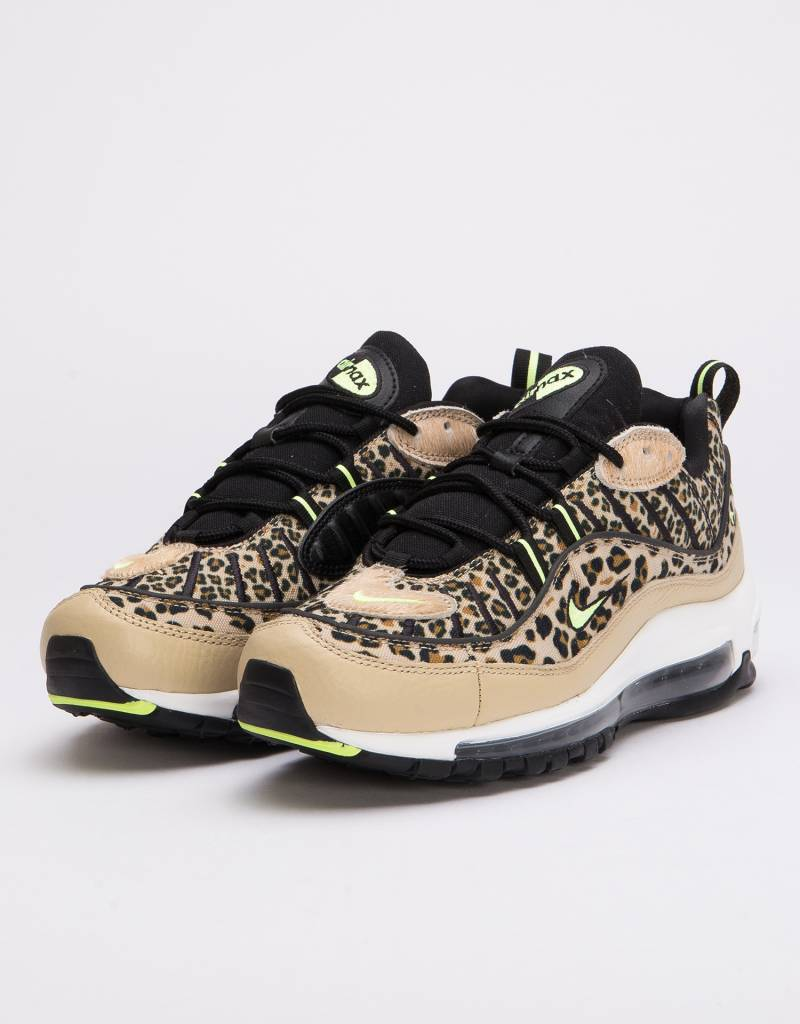 buy popular 53a6a cc76d Nike Womens Air Max 98 Premium Desert Ore Volt Glow-Black-Wheat - Avenue  Store