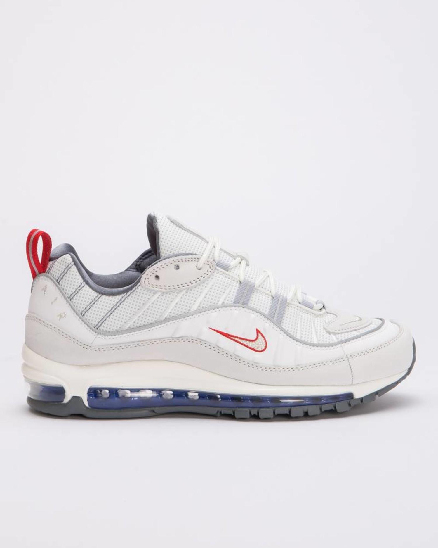 new product 5891b 14750 Nike Air Max 98 Summit white/metallic silver