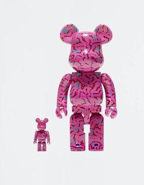 MEDICOM TOY BE@RBRICK Keith Haring #2 100% + 400%