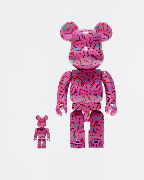MEDICOM TOY BE@RBRICK Keith Haring #2 100% + 400%