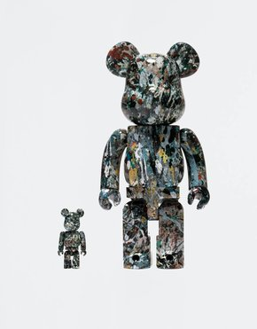 BEARBRICK BE@RBRICK Jackson Pollock Studio #2 100% + 400%