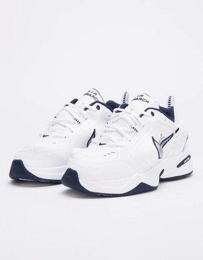 Nike X Martine Rose Air Monarch IV White/metallic silver-midnight navy