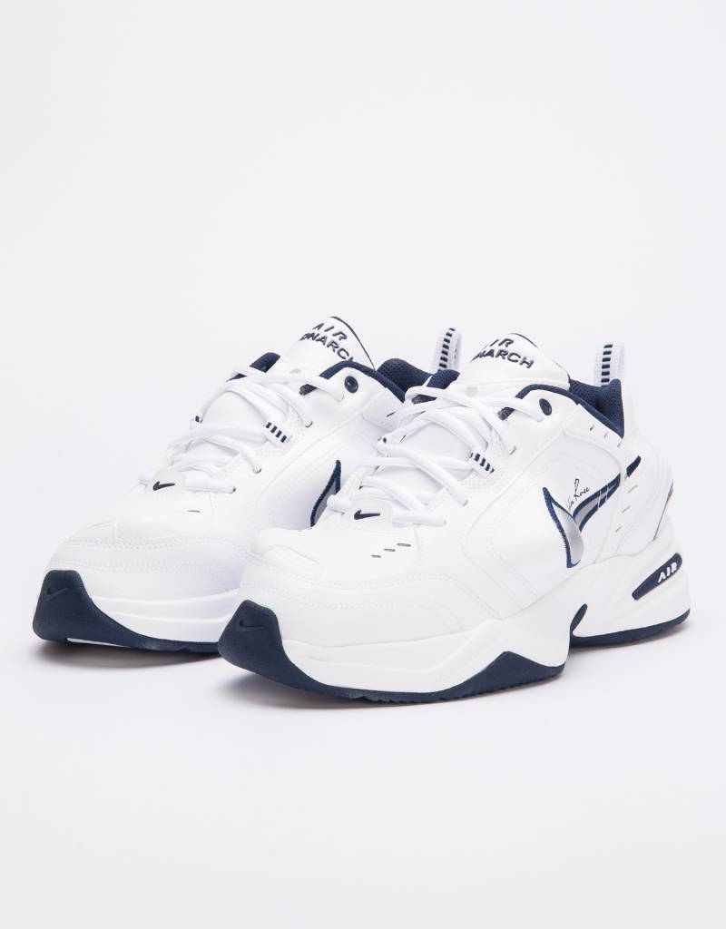 sports shoes b9e05 e9572 Nike X Martine Rose Air Monarch IV White metallic silver-midnight navy ...