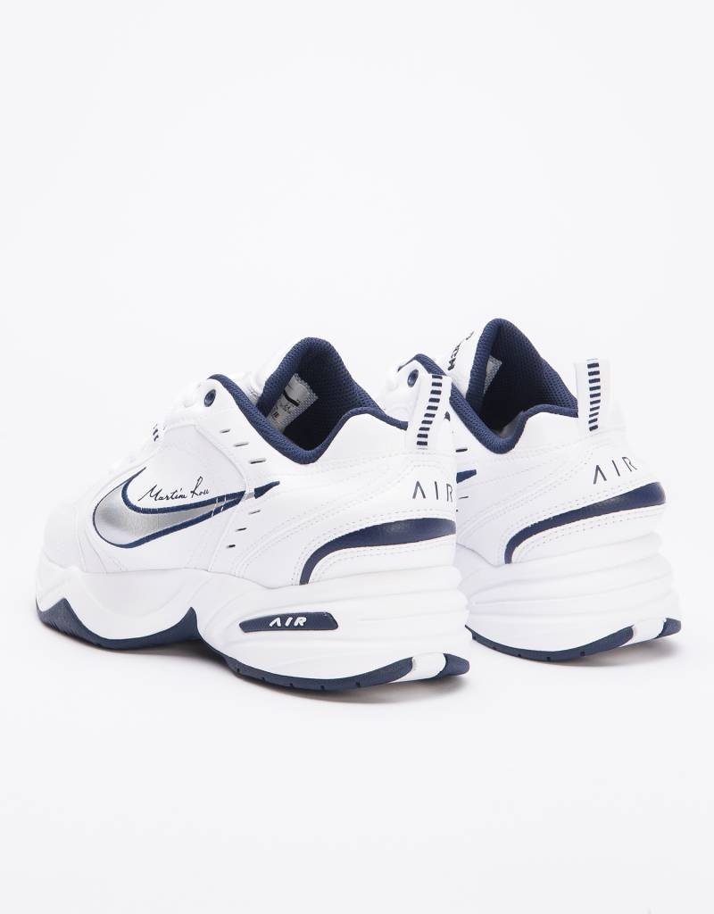 Nike X Martine Rose Air Monarch IV White/metallic silver-midnight navy