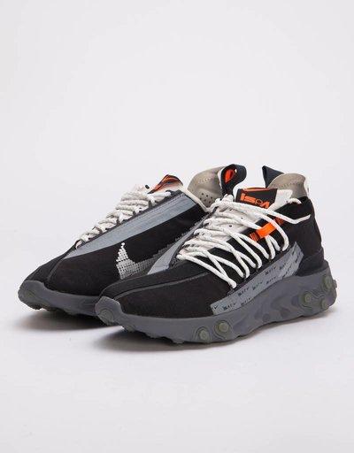 Nike Ispa React WR Black/Metallic Silver-Gunsmoke