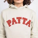 Patta Biker Logo Hooded Sweater Pelican