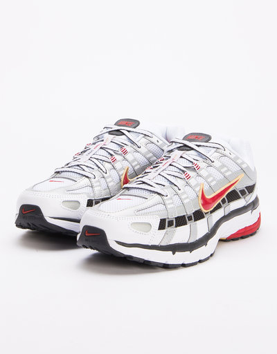 Nike P-6000 White/Varsity Red-Mtlc Platinum