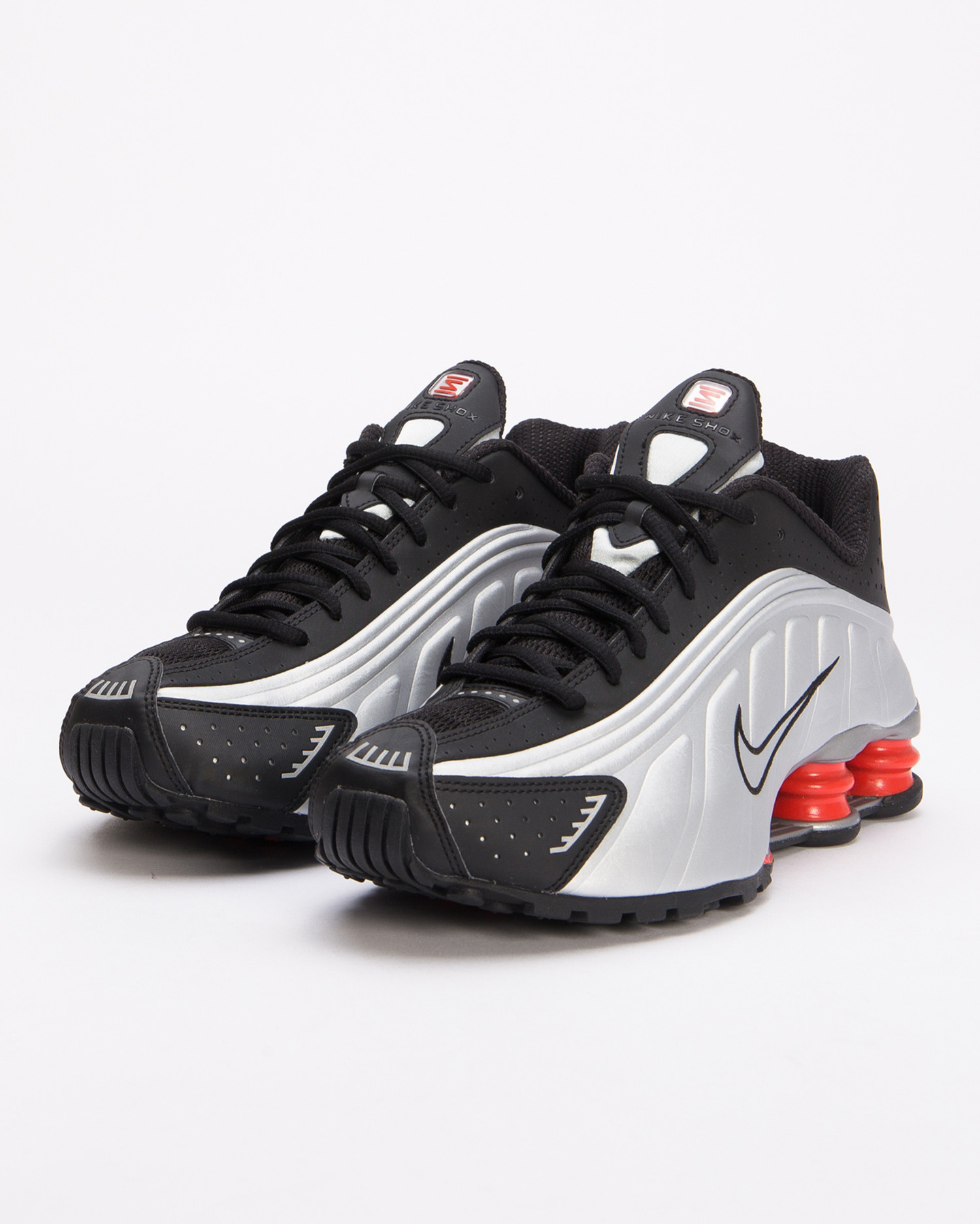 Nike Shox r4 Black/metallic silver-max orange
