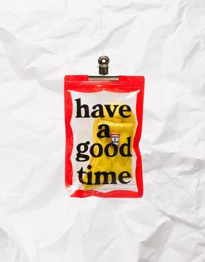 HAVE A GOOD TIME Have A Good Time Frame Socks Lemon
