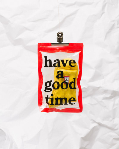 Have A Good Time Frame Socks Lemon
