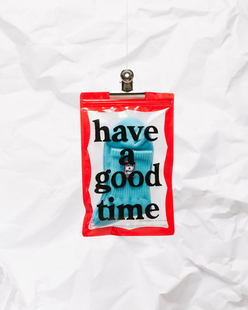 HAVE A GOOD TIME Have A Good Time Frame Socks Sky Blue