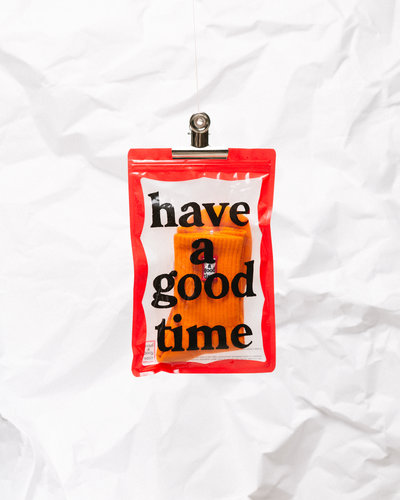 Have A Good Time Frame Socks Neon Orange