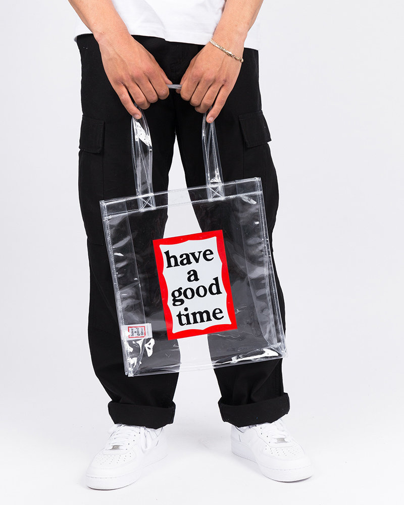 HAVE A GOOD TIME Have A Good Time PVC Frame Tote Clear