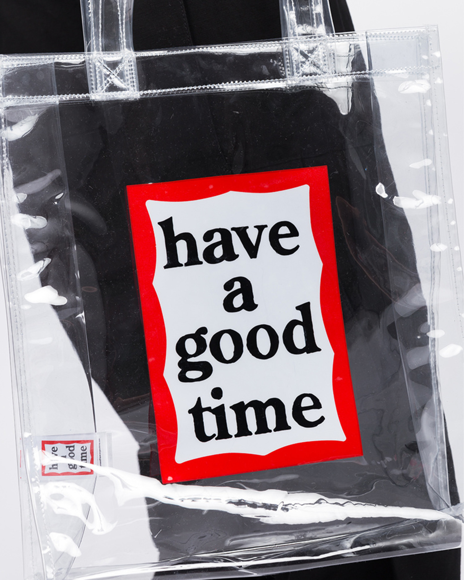 Have A Good Time PVC Frame Tote Clear