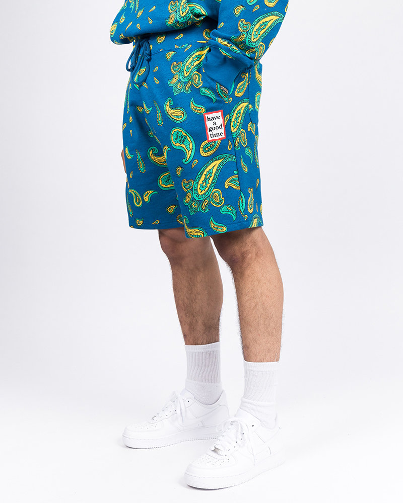 HAVE A GOOD TIME Have A Good Time Shorts Paisley Mini Frame Deep Blue